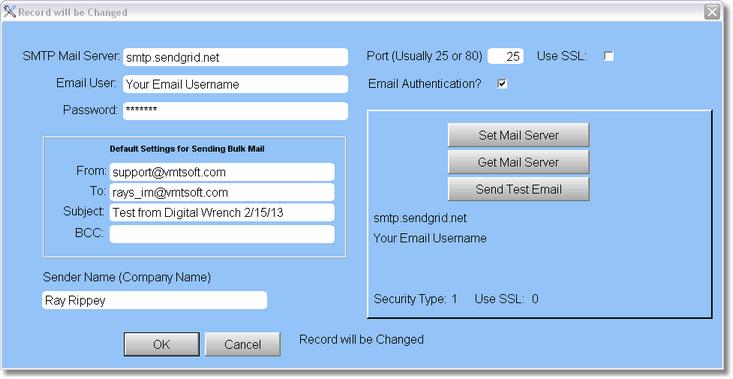 Setup > Email Setup